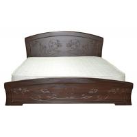 Двуспальная кровать Эмилия 160*200 деревянный вклад