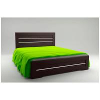 Двуспальная кровать Соломия 160*200 деревянный вклад