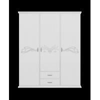 Шкаф Анабель белый 155х203,2х53 см