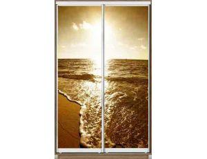 Шкаф купе 2 двери с фотопечатью 140х45х240 см