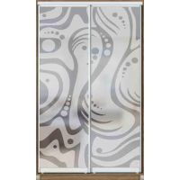 Шкаф купе 2 двери с матированием 100х60х220 см