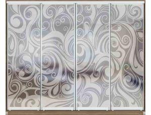 Шкаф купе 4 двери с матированием 330х60х240 см