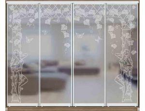 Шкаф купе 4 двери с матированием 360х60х240 см