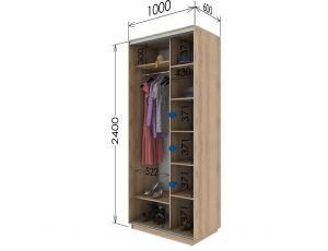 Шкаф купе 2 двери 100х60х240 см