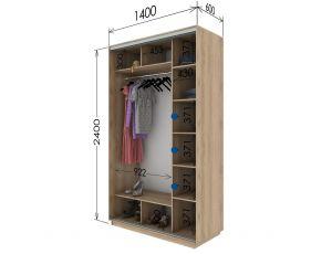 Шкаф купе 2 двери 140х60х240 см
