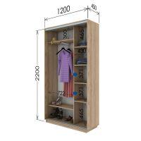 Шкаф купе 2 двери 120х45х220 см