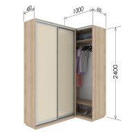 Шкаф купе приставной к шкафу 45 глубина 100х60х240 см