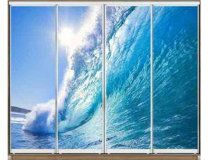 Шкаф купе 4 двери с фотопечатью 320х60х240 см