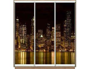Шкаф купе 3 двери с фотопечатью 270х45х240 см