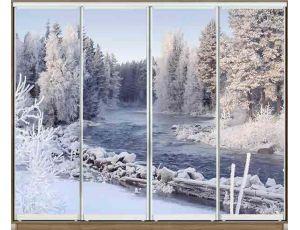 Шкаф купе 4 двери с фотопечатью 360х60х240 см