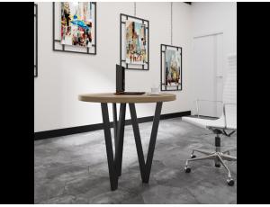 Обеденный стол Ви 3 ноги Металл-Дизайн