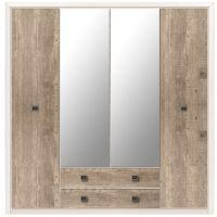 Шкаф для одежды 4-дверный Коен ІІ SZF4D2S (H)  БРВ-Украина