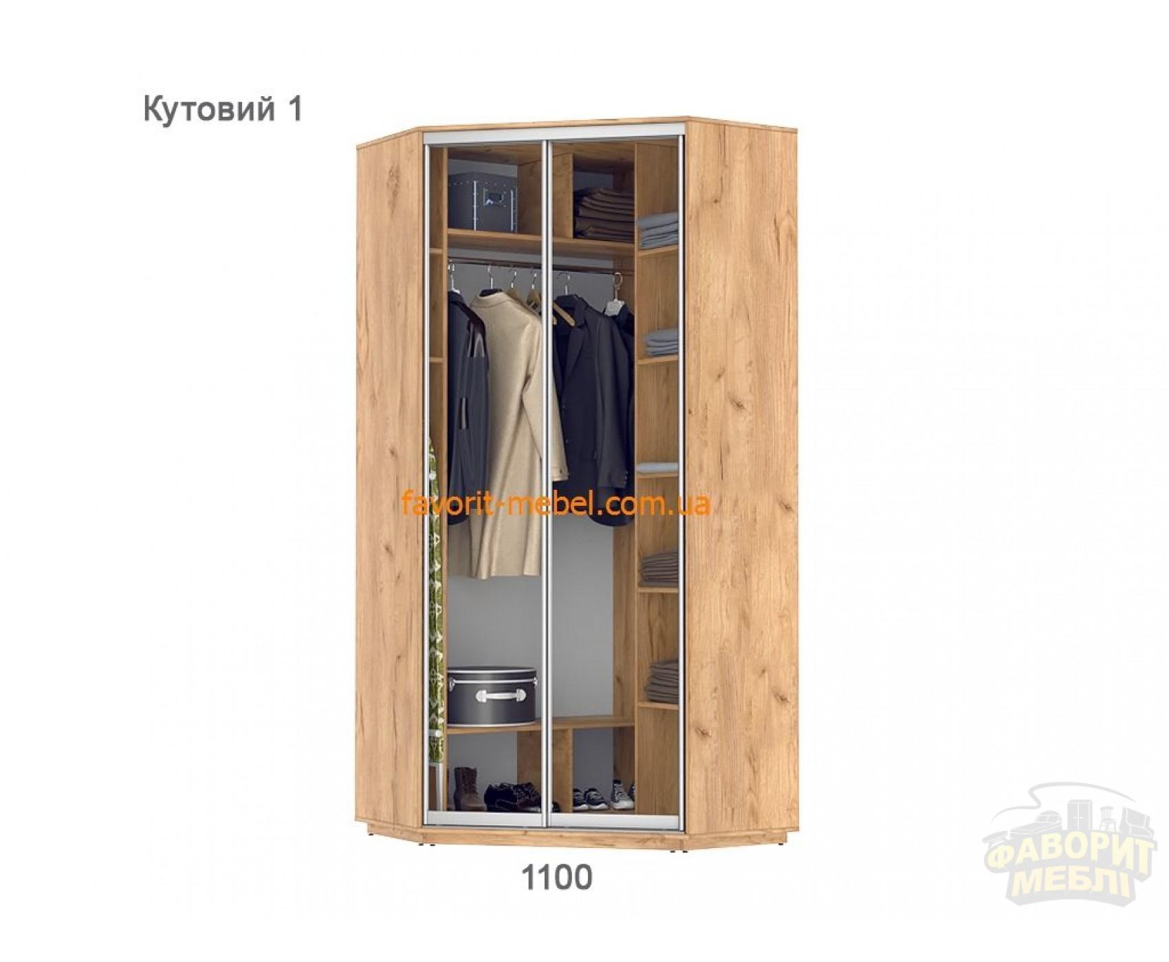 Шкаф купе Практик угловой 1 (110х110х240 см)