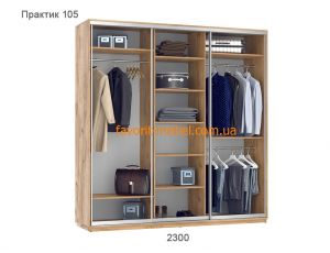 Шкаф купе Практик 105 (230х60х240 см)