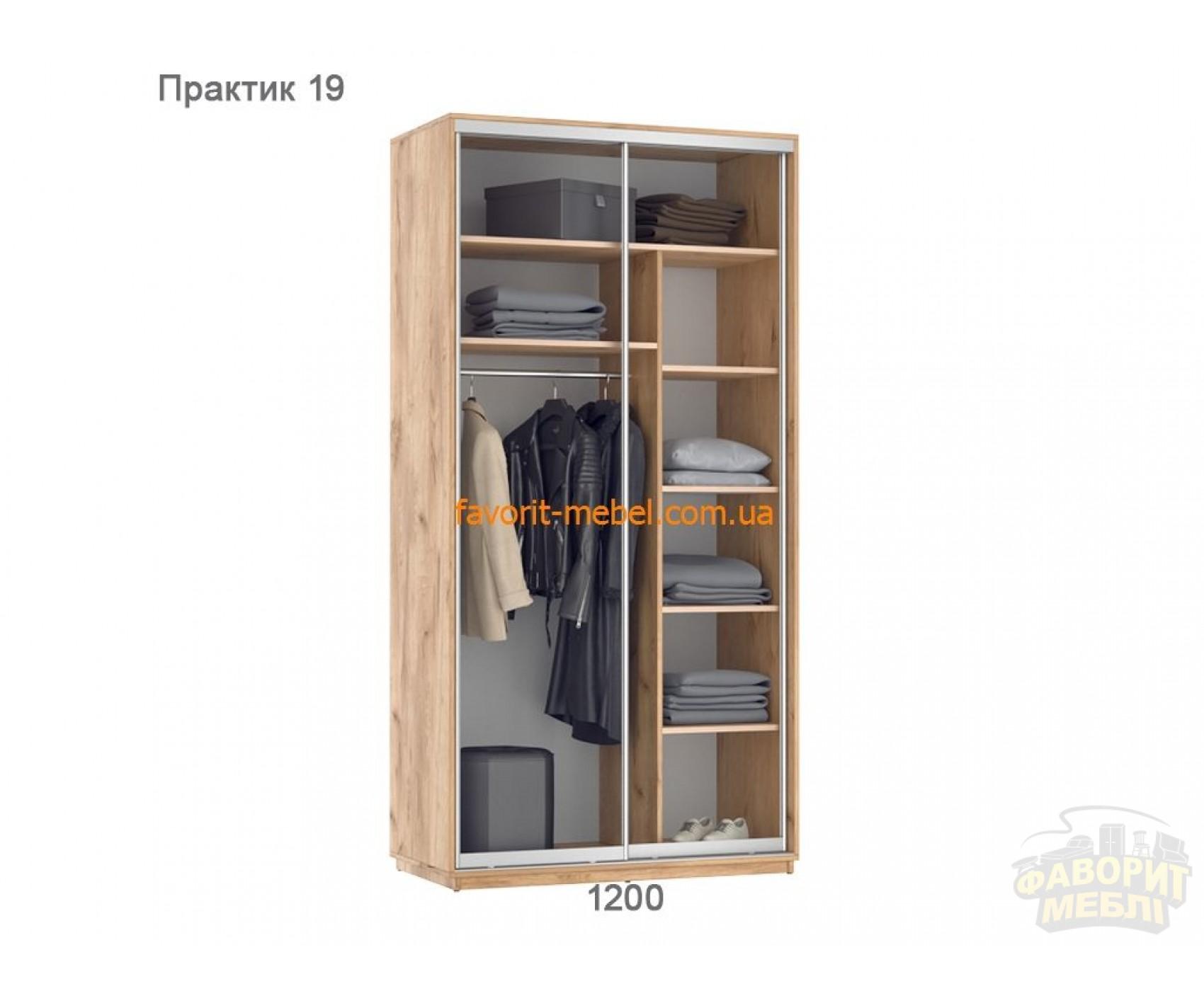 Шкаф купе Практик 19 (120х60х240 см)