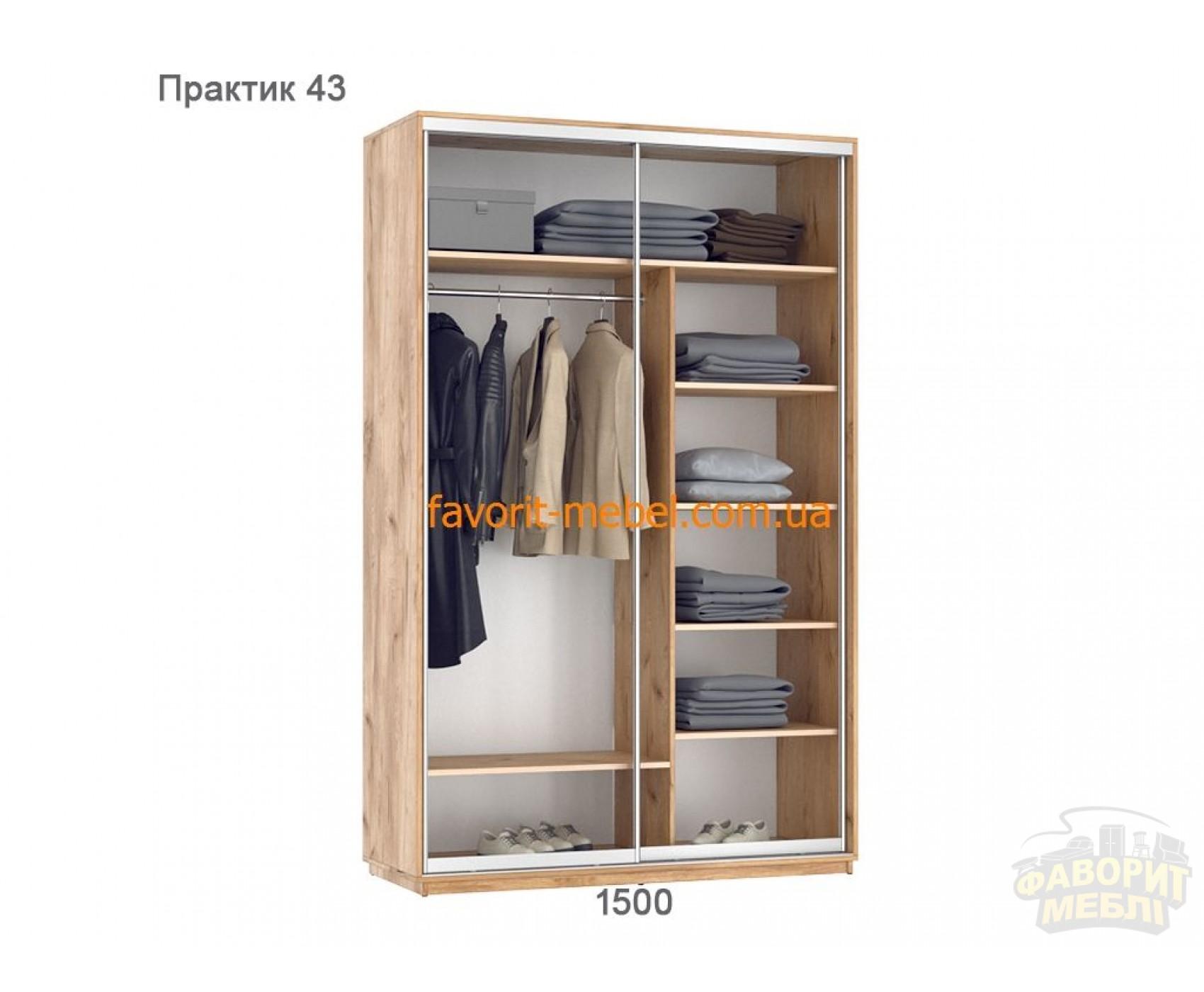 Шкаф купе Практик 43 (150х60х240 см)