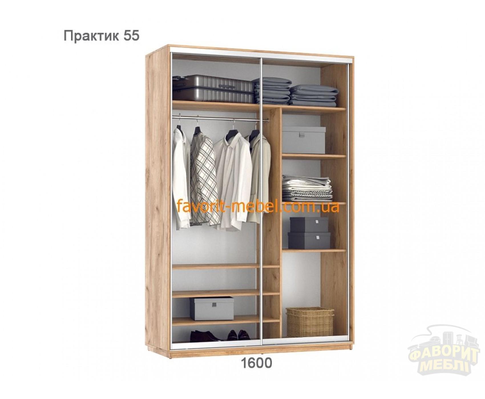 Шкаф купе Практик 55 (160х60х240 см)