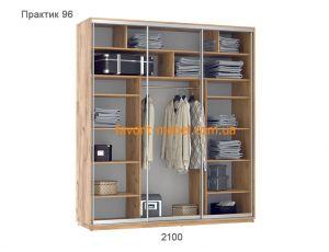 Шкаф купе Практик 96/3 (210х60х240 см)