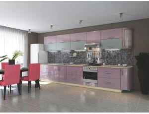 Кухня Элит Розовый Голубой металлик