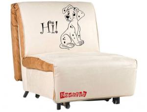 Кресло-кровать «Novelty (03) 0,8» с принтом
