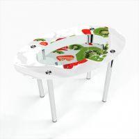 Стол обеденный Овальный с полкой Fruit&Milk