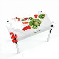 Стол обеденный Прямоугольный с проходящей полкой Fruit&Milk