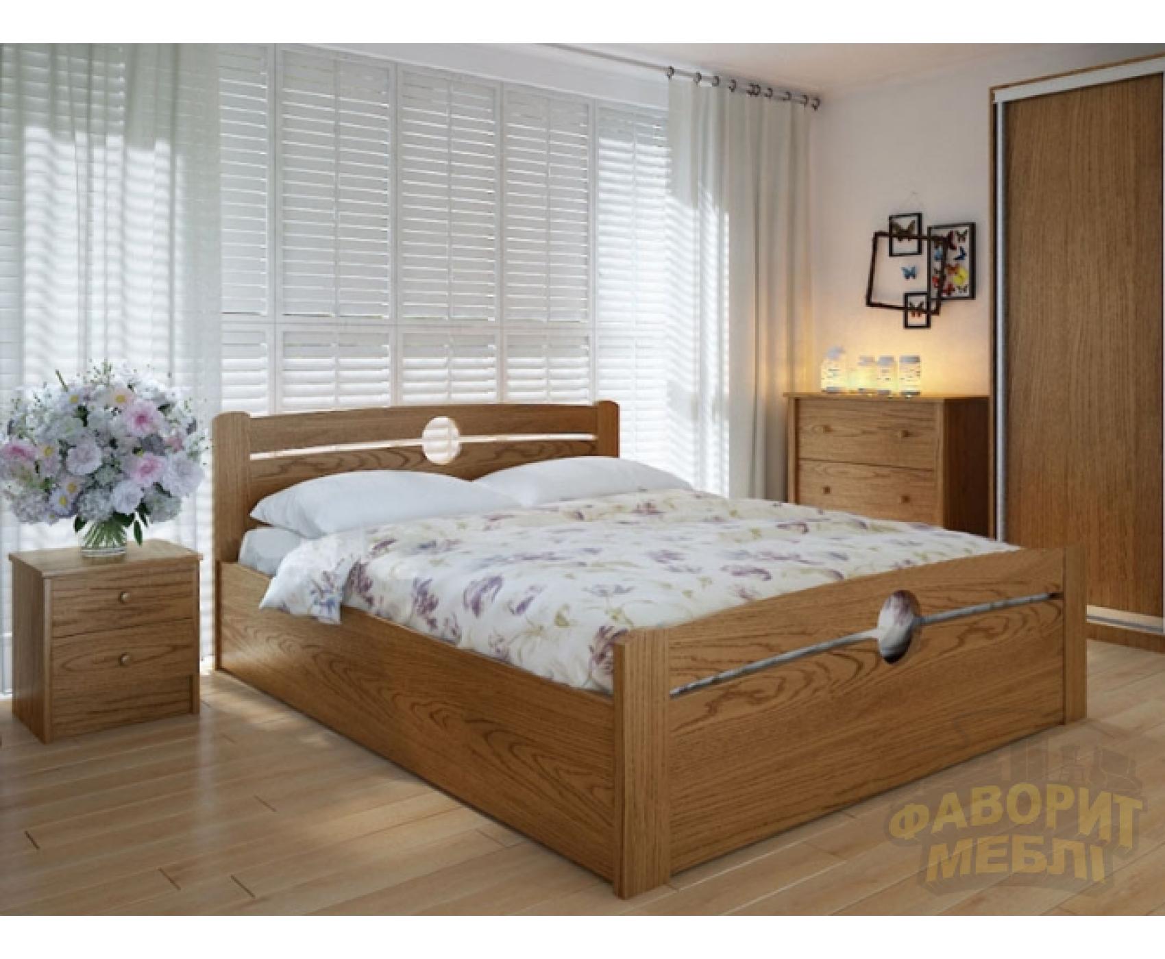 """Двуспальная деревянная кровать """"Авила"""" 160*200 с подъемным механизмом Meblikoff"""