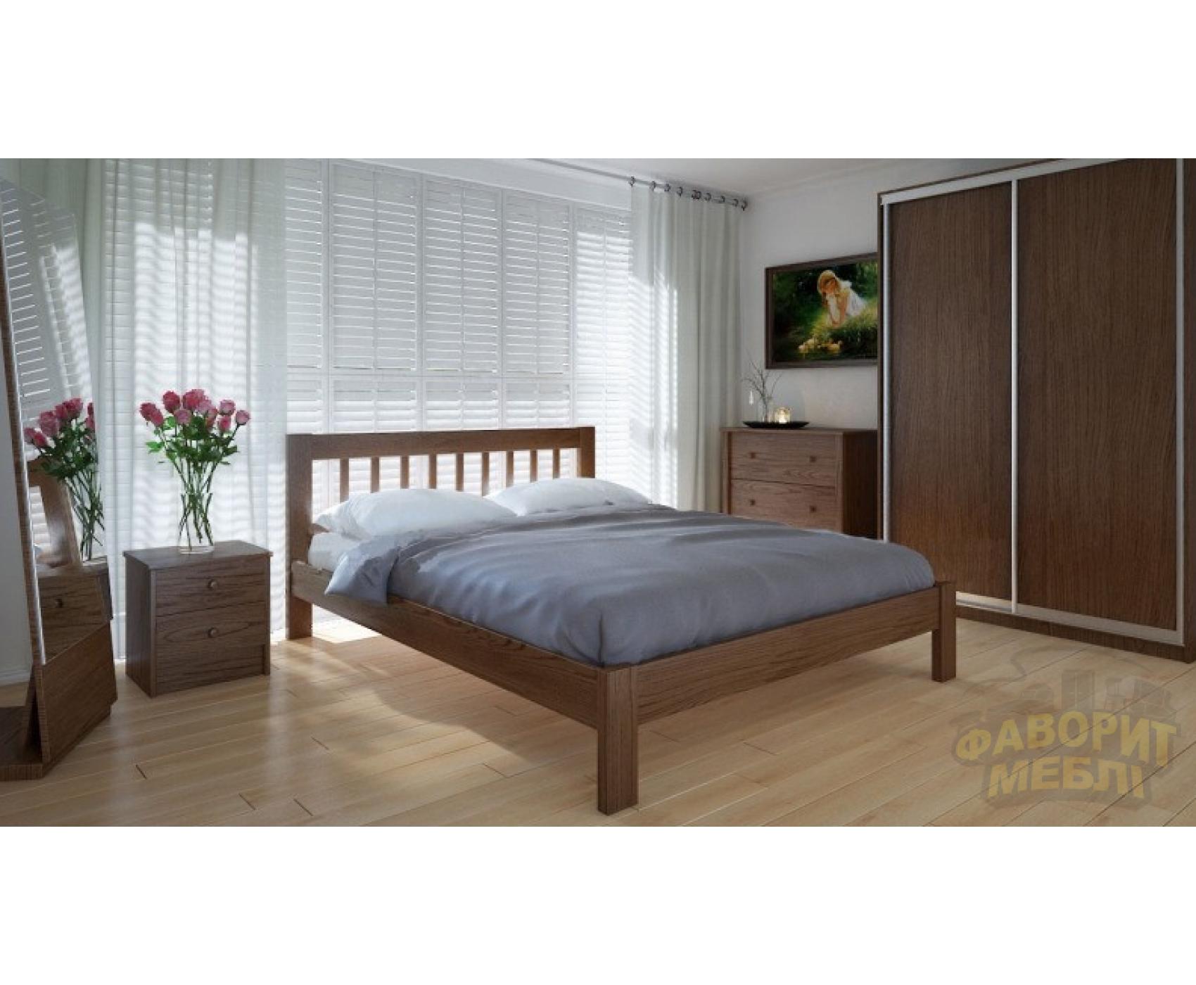 """Двуспальная деревянная кровать """"Вилидж"""" 160*200 Meblikoff"""