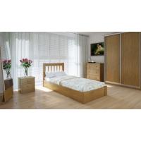 """Односпальная деревянная кровать """"Вилидж"""" 90*200 с подъемным механизмом Meblikoff"""