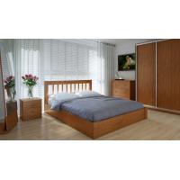 """Двуспальная деревянная кровать """"Вилидж"""" 160*200 с подъемным механизмом Meblikoff"""