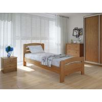 """Односпальная деревянная кровать """"Грин Плюс"""" 90*200 Meblikoff"""