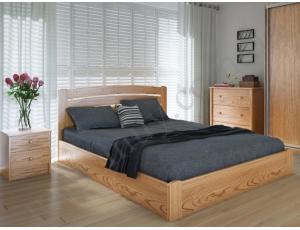 """Полуторная деревянная кровать """"Грин Плюс"""" 140*200 с подъемным механизмом Meblikoff"""
