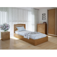 """Односпальная деревянная кровать """"Грин"""" 90*200 с подъемным механизмом Meblikoff"""