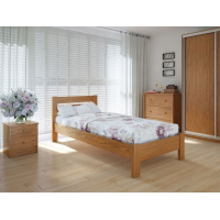 """Односпальная  деревянная кровать """"Еко Плюс"""" 90*200 Meblikoff"""