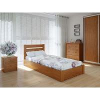 """Односпальная  деревянная кровать """"Еко Плюс"""" 90*200 с подъемным механизмом Meblikoff"""