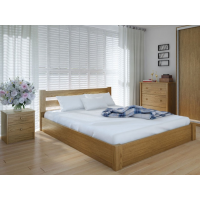 """Двуспальная деревянная кровать """"ЕКО"""" 160*200 с подъемным механизмом Meblikoff"""