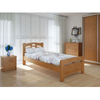 """Односпальная деревянная кровать """"Кантри Плюс"""" 90*200 Meblikoff"""