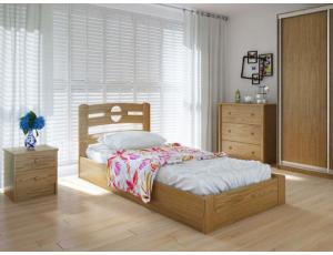 """Односпальная деревянная кровать """"Кантри"""" 90*200 с подъемным механизмом Meblikoff"""