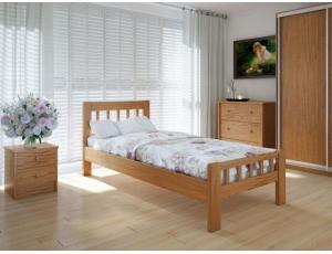 """Односпальная деревянная кровать """"Луизиана"""" 90*200 Meblikoff"""