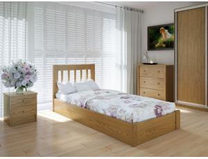 """Односпальная деревянная кровать """"Луизиана"""" 90*200 с подъемным механизмом Meblikoff"""