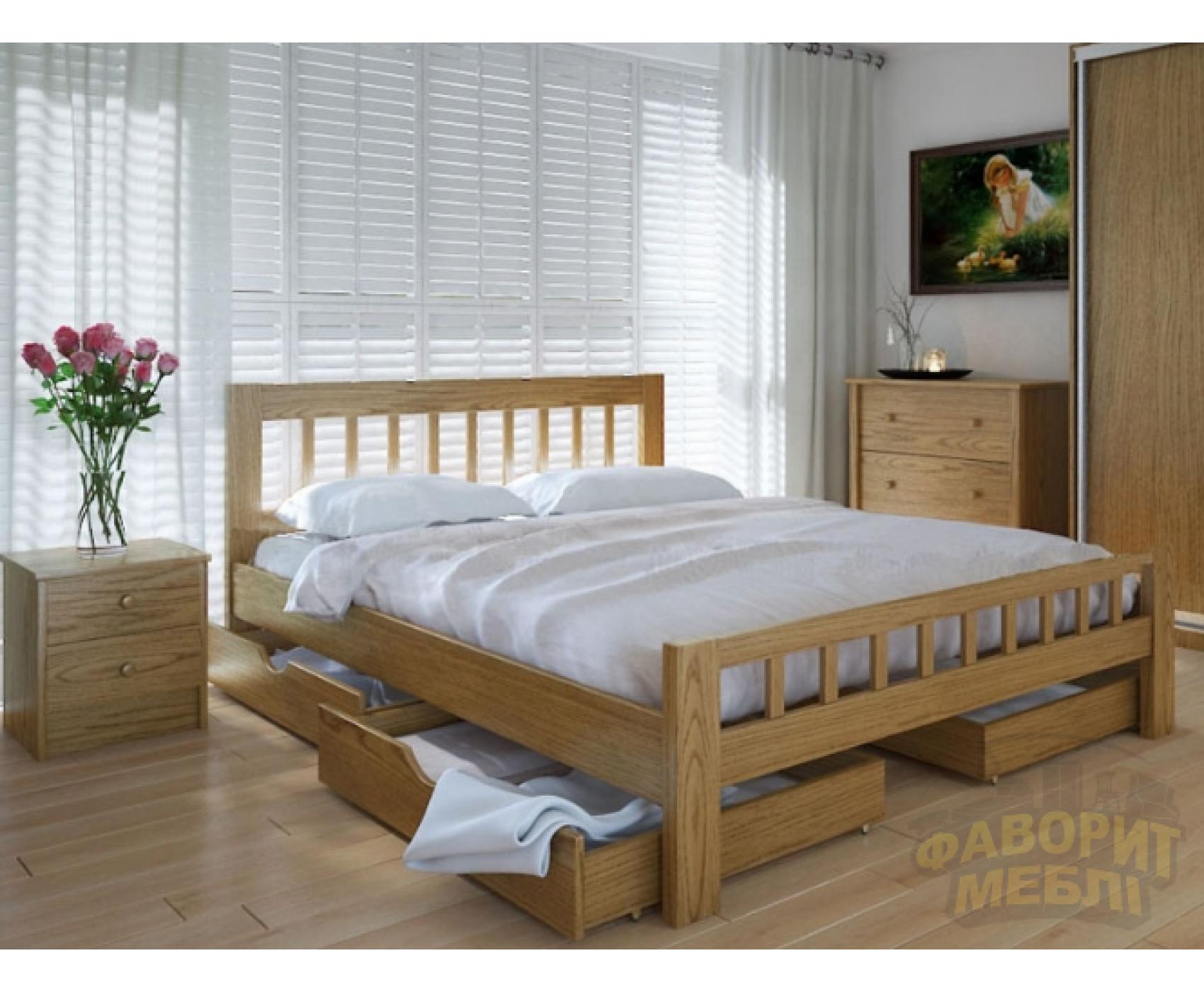 """Двуспальная  деревянная кровать """"Луизиана"""" 180*200 Meblikoff"""